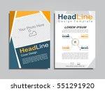 brochure design layout with... | Shutterstock .eps vector #551291920