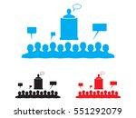 speaker icon  vector...   Shutterstock .eps vector #551292079