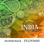 26th of january india republic... | Shutterstock .eps vector #551293600