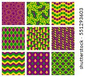set of seamless patterns for... | Shutterstock .eps vector #551293603