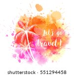 watercolor imitation splash... | Shutterstock .eps vector #551294458