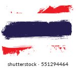 grunge thailand national flag... | Shutterstock .eps vector #551294464