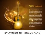 rock band logo. guitar in fire... | Shutterstock .eps vector #551297143