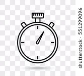Line Icon  Stopwatch