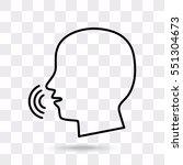 line icon   speak | Shutterstock .eps vector #551304673