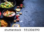thai food background. dishes of ... | Shutterstock . vector #551306590