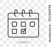 line icon  calendar | Shutterstock .eps vector #551306998