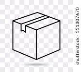 line icon  box | Shutterstock .eps vector #551307670