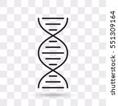 line icon  dna | Shutterstock .eps vector #551309164
