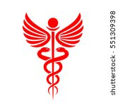 medicine caduceus vector sign... | Shutterstock .eps vector #551309398