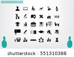 education set vector icons  | Shutterstock .eps vector #551310388
