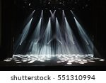 free stage with lights ... | Shutterstock . vector #551310994