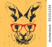 portrait of kangaroo with...   Shutterstock .eps vector #551311234