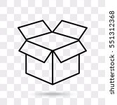 line icon  open box | Shutterstock .eps vector #551312368