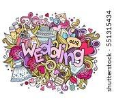 cartoon cute doodles hand drawn ... | Shutterstock .eps vector #551315434
