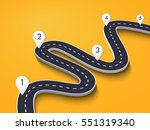 winding road on a colorful... | Shutterstock .eps vector #551319340