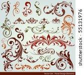 floral design elements | Shutterstock .eps vector #55131976