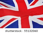 Close up of the Flag of Great Britain - stock photo