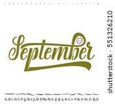vector alphabet. calligraphic... | Shutterstock .eps vector #551326210
