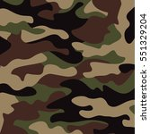 camouflage pattern background.... | Shutterstock .eps vector #551329204