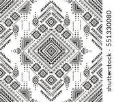 black and white tribal vector... | Shutterstock .eps vector #551330080