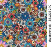seamless pattern with small...   Shutterstock .eps vector #551335240