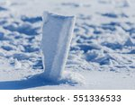 the explosion of snow in the... | Shutterstock . vector #551336533