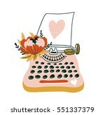 hand drawn  vector card with... | Shutterstock .eps vector #551337379