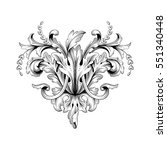 vintage baroque ornament retro... | Shutterstock .eps vector #551340448