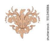 vintage baroque ornament retro... | Shutterstock .eps vector #551340886