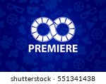 seamless pattern of movie... | Shutterstock .eps vector #551341438