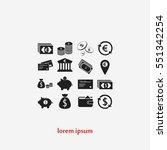 finance icons vector  flat... | Shutterstock .eps vector #551342254