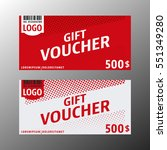 gift voucher template. two gift ... | Shutterstock .eps vector #551349280