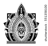 maori style tattoo design for... | Shutterstock .eps vector #551358100
