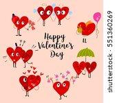 cartoon heart collection set of ... | Shutterstock .eps vector #551360269