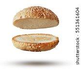 burger bun empty isolated | Shutterstock . vector #551361604