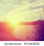 summer retro sunset | Shutterstock . vector #551363050