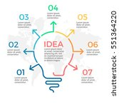 light bulb infographic. idea... | Shutterstock .eps vector #551364220