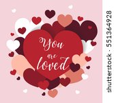 romantic st valentine card with ... | Shutterstock .eps vector #551364928