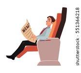 businessman reading newspaper...   Shutterstock .eps vector #551366218