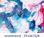 blue and pink hand painted... | Shutterstock . vector #551367328