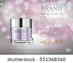 premium vip cosmetic ads ... | Shutterstock .eps vector #551368360