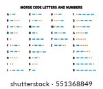 international telegraph morse... | Shutterstock .eps vector #551368849