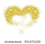 golden glitter heart  love... | Shutterstock .eps vector #551372230