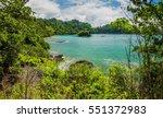 ocean coast in national park... | Shutterstock . vector #551372983