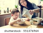 mom son spend time holiday... | Shutterstock . vector #551376964