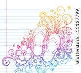 hand drawn summer vacation flip ...   Shutterstock .eps vector #55137799