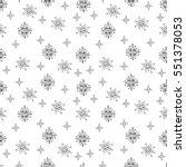 vector seamlees pattern. stars... | Shutterstock .eps vector #551378053