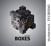 boxes 3d vector elements.... | Shutterstock .eps vector #551380060