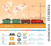 freight trains infographics.... | Shutterstock .eps vector #551380816